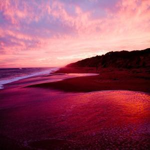 An Australian Sunset on a Beach by Trigger Image