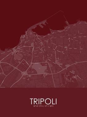 Tripoli, Libya Red Map