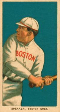 Tris Speaker, 1909 White Borders (T206) Baseball Card Series