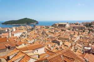 Croatia, Dubrovnik. Dense walled city, Adriatic, Lokrum Island. by Trish Drury