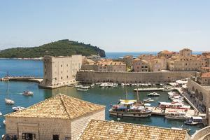Croatia, Dubrovnik. Walled city old town and marina. St. John Fortress by Trish Drury