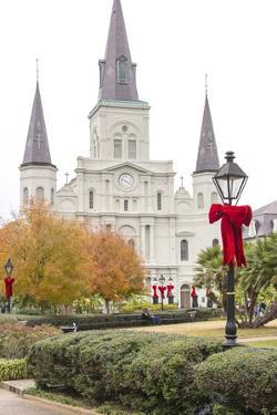 Louisiana, New Orleans. St Louis Cathedral with Holiday Decor by Trish Drury
