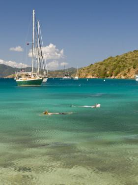 Snorkelers in Idyllic Cove, Norman Island, Bvi by Trish Drury