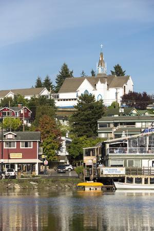 USA, Washington, Poulsbo. Norwegian Heritage Town on Kitsap Peninsula
