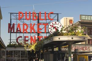 USA, Washington, Seattle. Pike Place Market Built in 1907 by Trish Drury