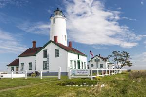 USA, Washington, Sequim, Dungeness Spit. Dungeness Spit Lighthouse by Trish Drury