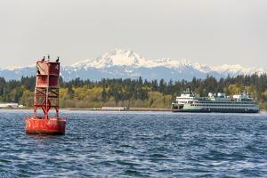 USA, Washington State, Puget Sound. Washington State ferry Bremerton to Seattle by Trish Drury