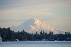 USA, Washington State, View of Mount Rainier. by Trish Drury