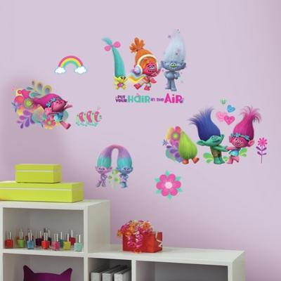 Trolls Movie Peel and Stick Wall Decals
