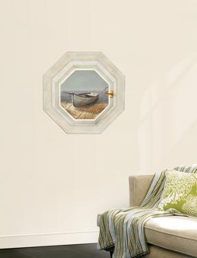 Trompe L?Oiel Shoreline Boat Hexagonal Window Accent Wall Decal