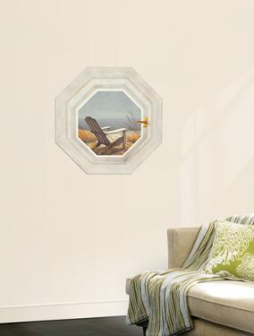 Trompe L?Oiel Shoreline Chair Hexagonal Window Accent Wall Decal
