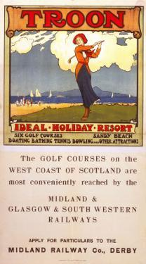 Troon, Ideal Holiday Resort, MR/G&SWR, c.1920