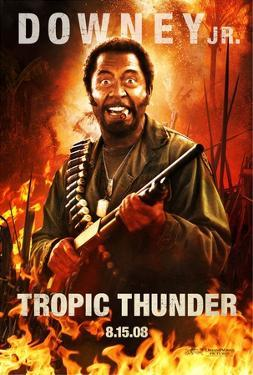 Tropic Thunder (Robert Downey Jr.) Movie Poster