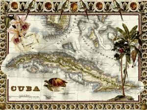 Tropical Map of Cuba