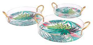 Tropical Set of 3 Trays Multicolor
