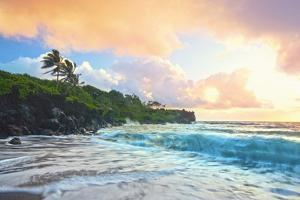 Tropical Sunset Seascape by M Sweet
