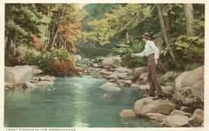 Trout Fishing in the Adirondacks, New York