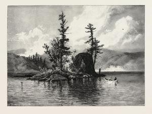 Trout Fishing on Lake Comandeau, Canada, Nineteenth Century