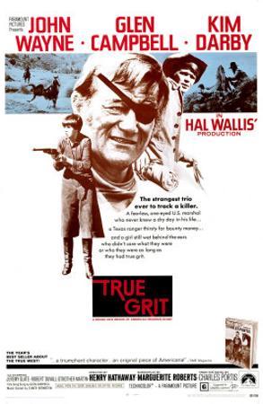 True Grit, Kim Darby, John Wayne, Glen Campbell, 1969