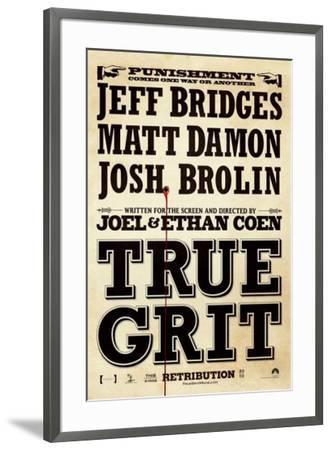 True Grit--Framed Poster