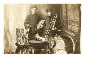 Trumpeter and Trombone Player