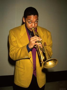 Trumpeter Wynton Marsalis Playing His Horn