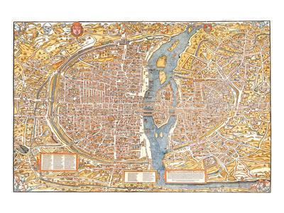 Plan of Paris from 1553