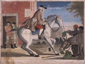 A Taylor Riding to Brentford, 1786 by TS Stayner