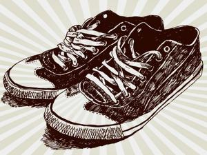 Vintage Sneakers Hand Drawn by tsaplia