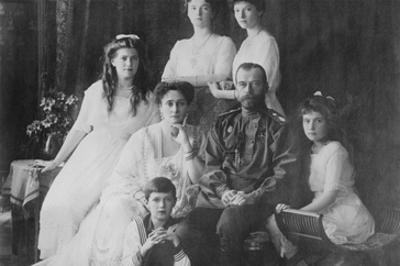 Tsar Nicholas and Alexandra Pose with Third Children before the Revolution