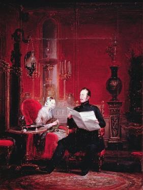 Tsarevich Alexander (1818-81) and His Wife Maria Alexandrovna, 1845