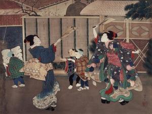 January: Celebrating the New Year, 1860s by Tsukioka Yoshitoshi