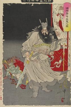 Shoki Capturing a Demon, 1890 by Tsukioka Yoshitoshi