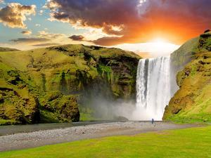 Iceland, Waterfall - Skogafoss by TTstudio