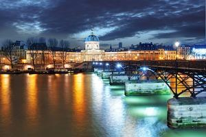 Institut De France Building in Paris, France at Night by TTstudio