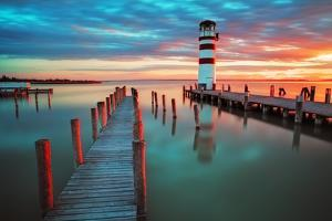 Lighthouse at Lake Neusiedl - Austria by TTstudio