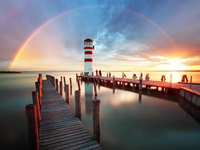 Lighthouse at Lake Neusiedl - Austria by TTstudio