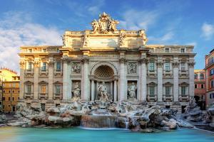 Rome, Fountain Di Trevi, Italy by TTstudio