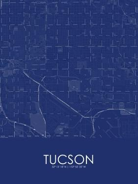 Tucson, United States of America Blue Map