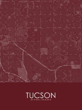 Tucson, United States of America Red Map