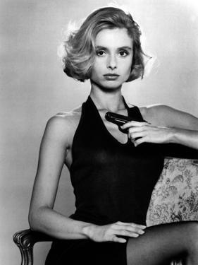Tuer n'est pas Jouer THE LIVING DAYLIGHTS by John Glen with Maryam D'Abo, 1987 (b/w photo)