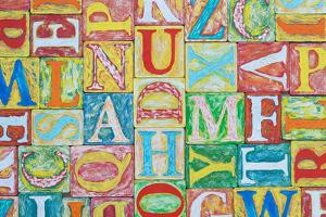 Collage Made of Colorful Alphabet Letters by Tuja66