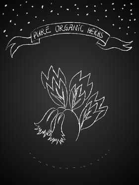 Chalk Flower on Blackboard by tukkki