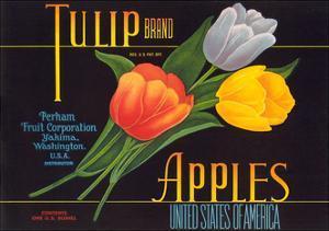 Tulip Apple Label
