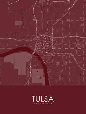 Tulsa, United States of America Red Map