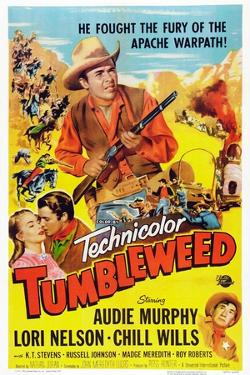Tumbleweed, Kissing from Left: Lori Nelson, Audie Murphy, Chill Wills, 1953