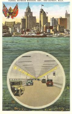 Tunnel to Windsor, Detroit, Michigan