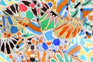 Barcelona, Spain - Gaudi Mosaic by Tupungato