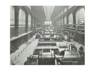 Turbine Hall of Greenwich Generating Station, London, 1932