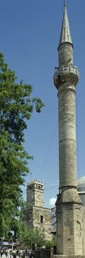 Turkey. Antalya. Old City Center. Minaret of Tekeli Pasa Mosque (18th Century) and Clock Tower. Med
